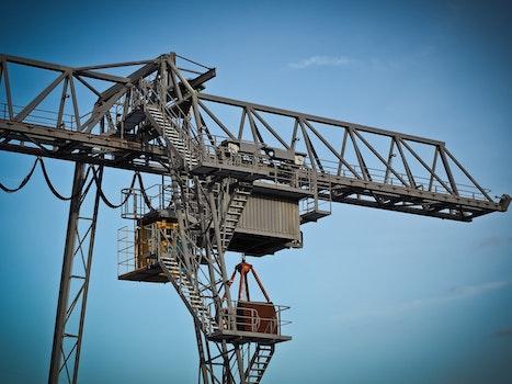 Crane Against Clear Sky