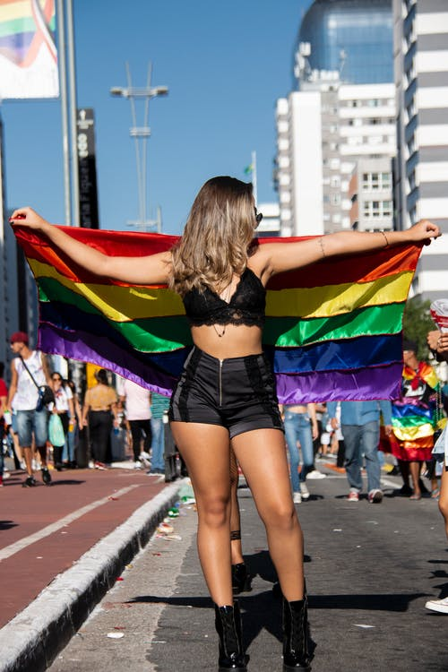 Imagine de stoc gratuită din distracție, drum, femeie, gay pride-h