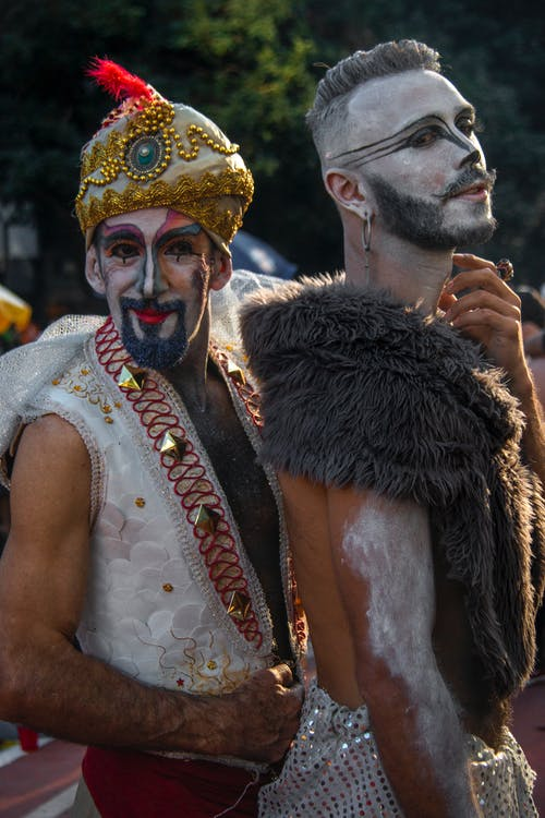 Two Men in Street Parade