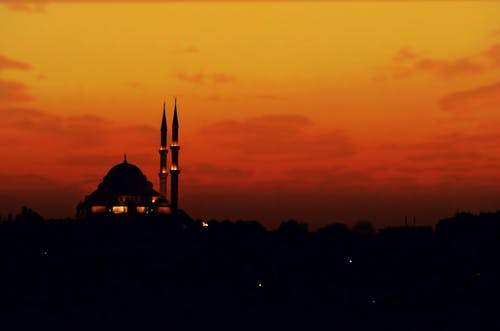 Ilmainen kuvapankkikuva tunnisteilla auringonlasku, Istanbul, kaupunki, moskeija