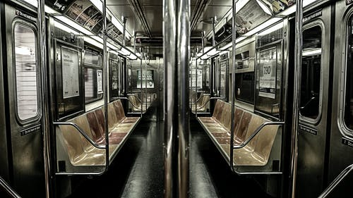 Free stock photo of cold, empty, metro, metro car