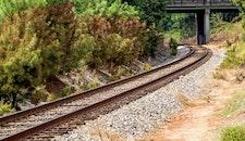 curve, rocks, bridge