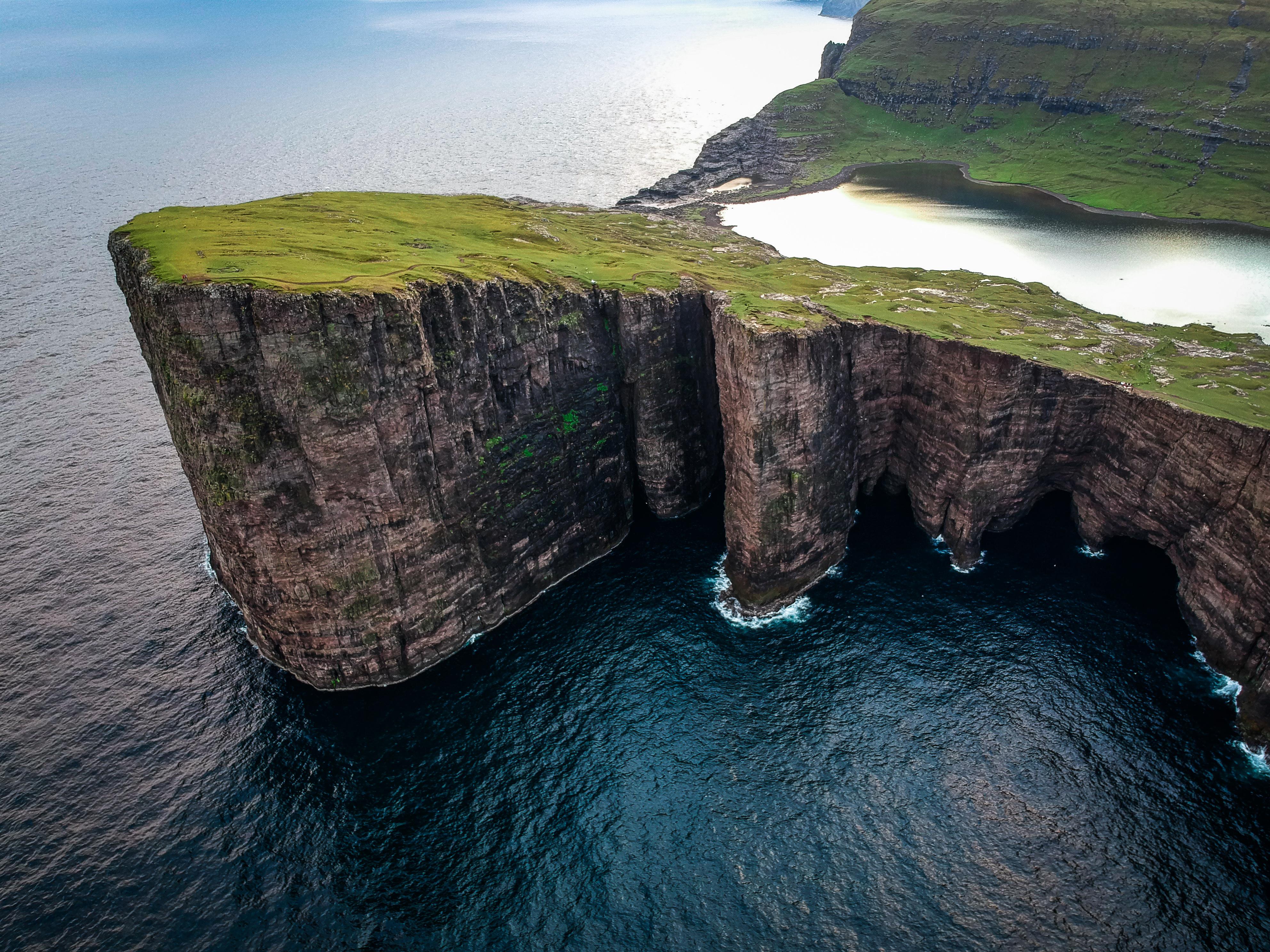 Aerial Shot Of Cliff