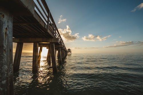Kostnadsfri bild av brygga, fredlig, gryning, hav