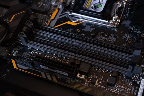 Black and Gray Motherboard