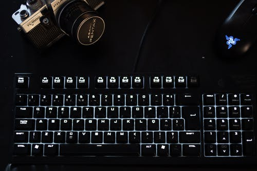 Turned-on Mechanical Keyboard