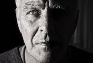 black-and-white, man, portrait