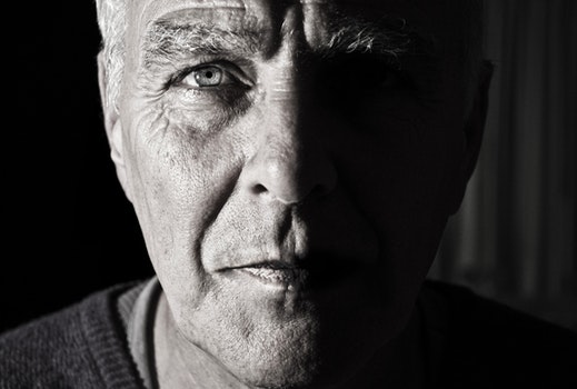 Free stock photo of black-and-white, man, portrait, old
