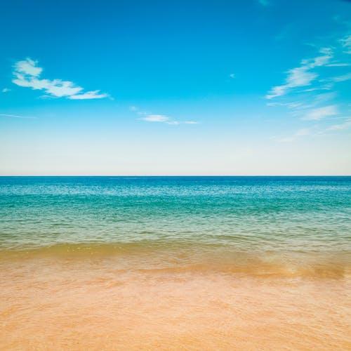 Free stock photo of beach, blue sky, clouds