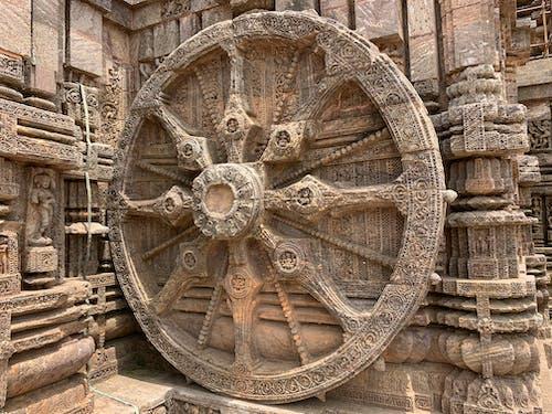 Free stock photo of konark sun temple, konark wheel