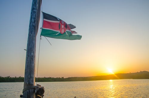 Free stock photo of flag, indian ocean, Kenya, sea