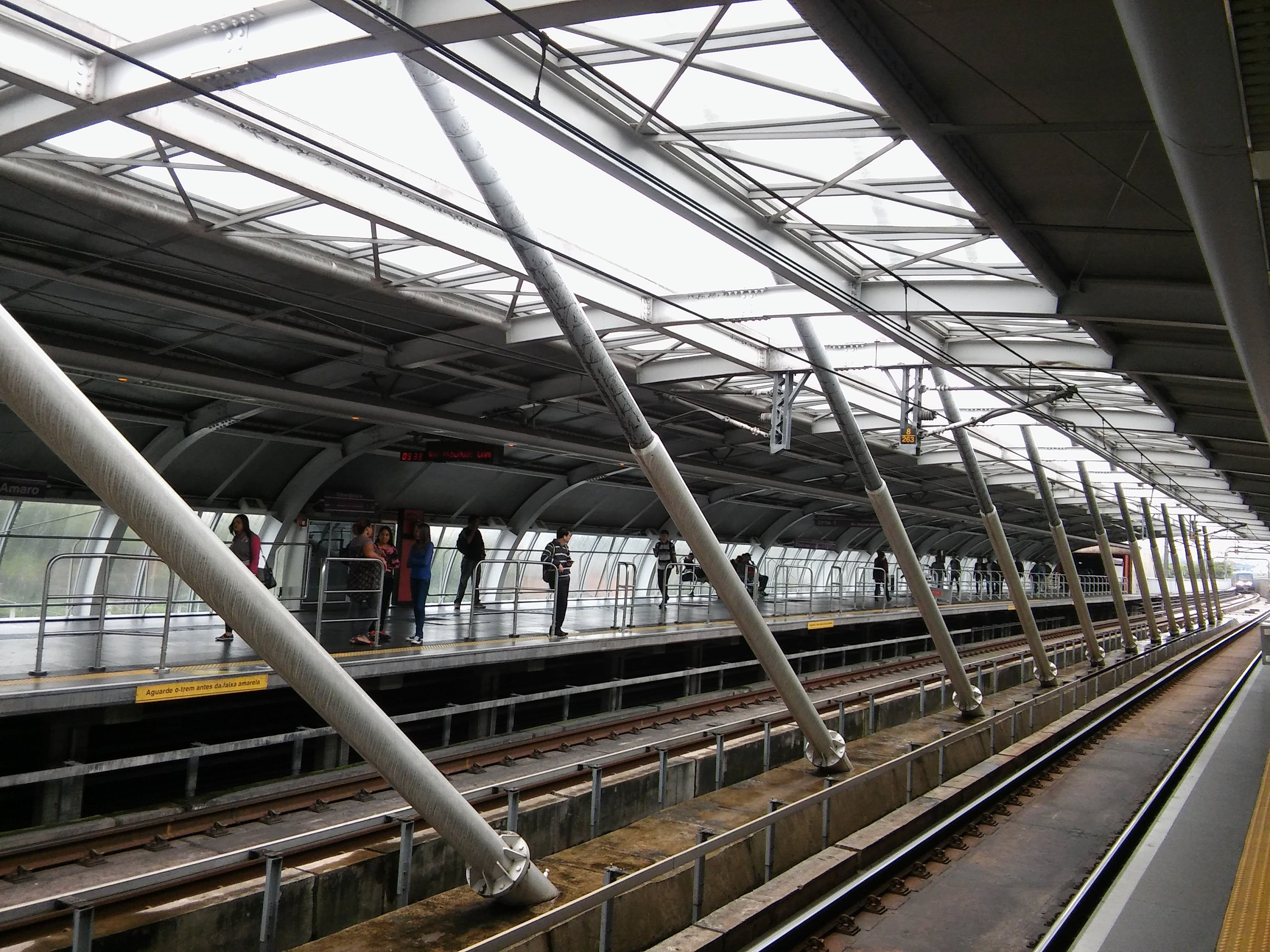 High Angle View of Elevated View of Railroad Station
