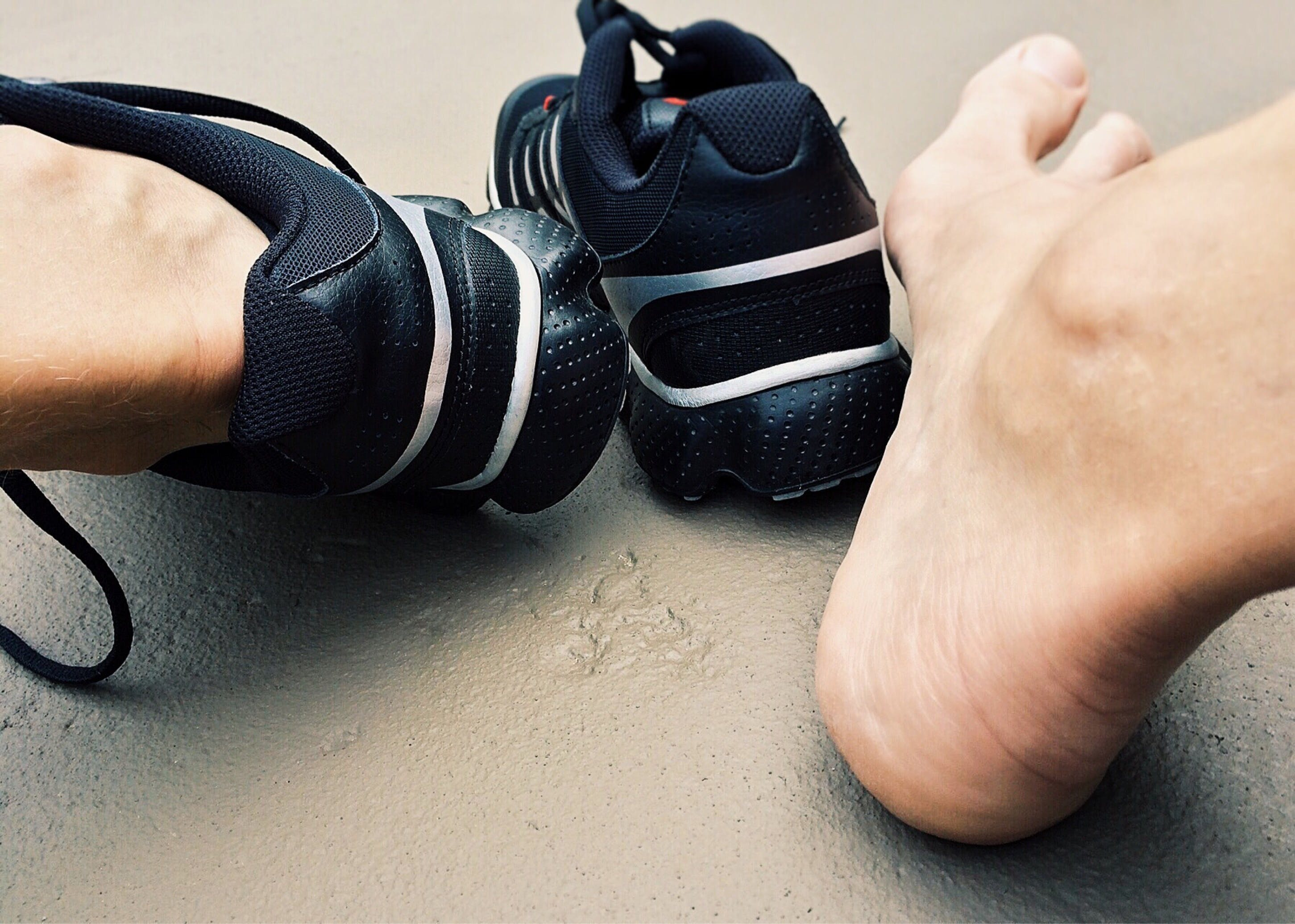 Close-up of Man Wearing Shoes