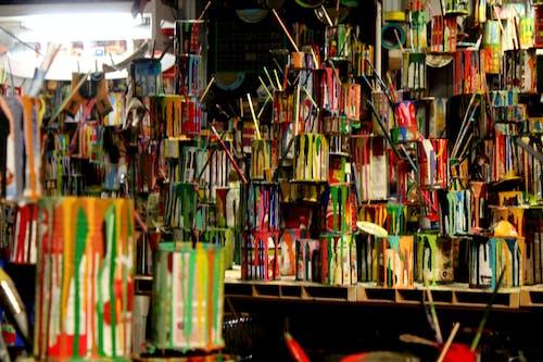 Foto d'estoc gratuïta de llaunes de pintura, pinzells