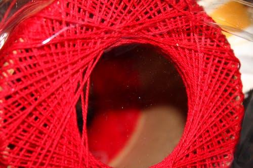 Foto d'estoc gratuïta de carrete, fil, vermell