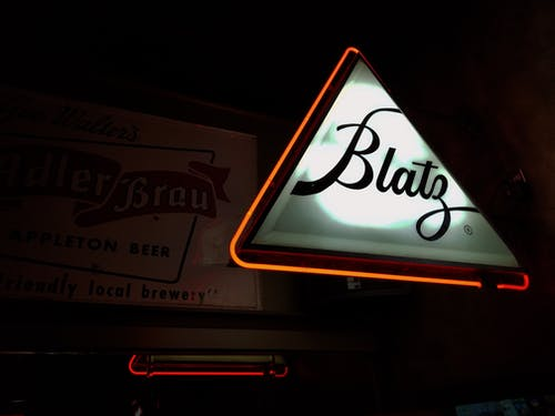 Free stock photo of Beer sign, blatz, dive bar