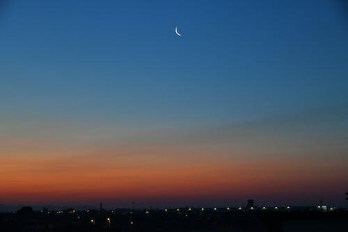 Ingyenes stockfotó alkonyat, éjszaka, fogyó hold, hold témában