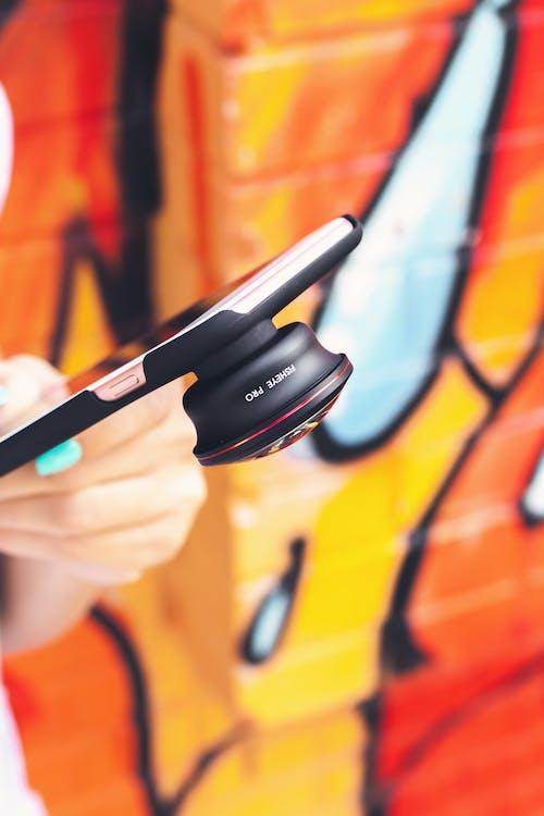 akıllı telefon, alan derinliği, aygıt, balık gözü içeren Ücretsiz stok fotoğraf