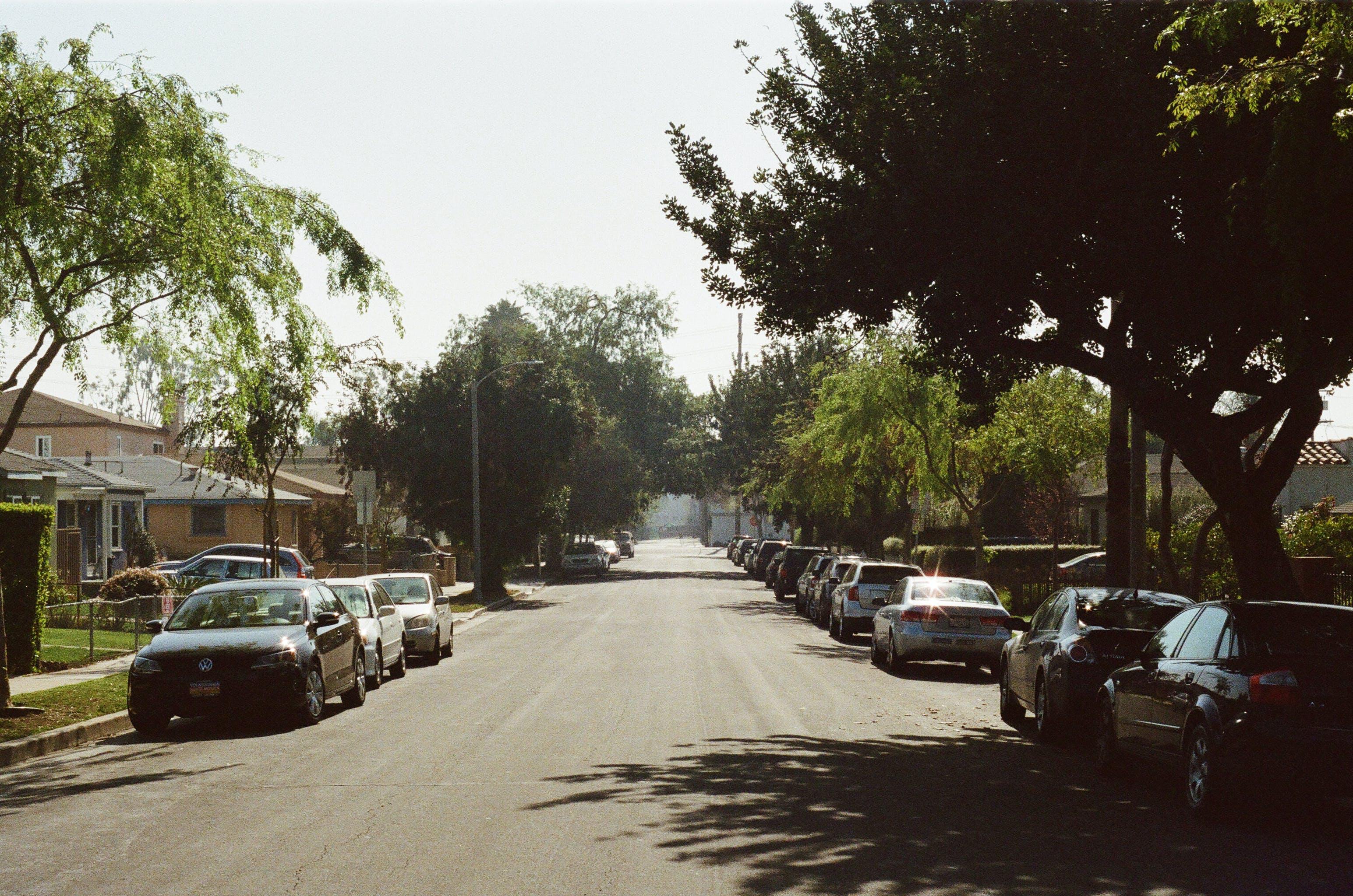 Free stock photo of cars, street, village, straight