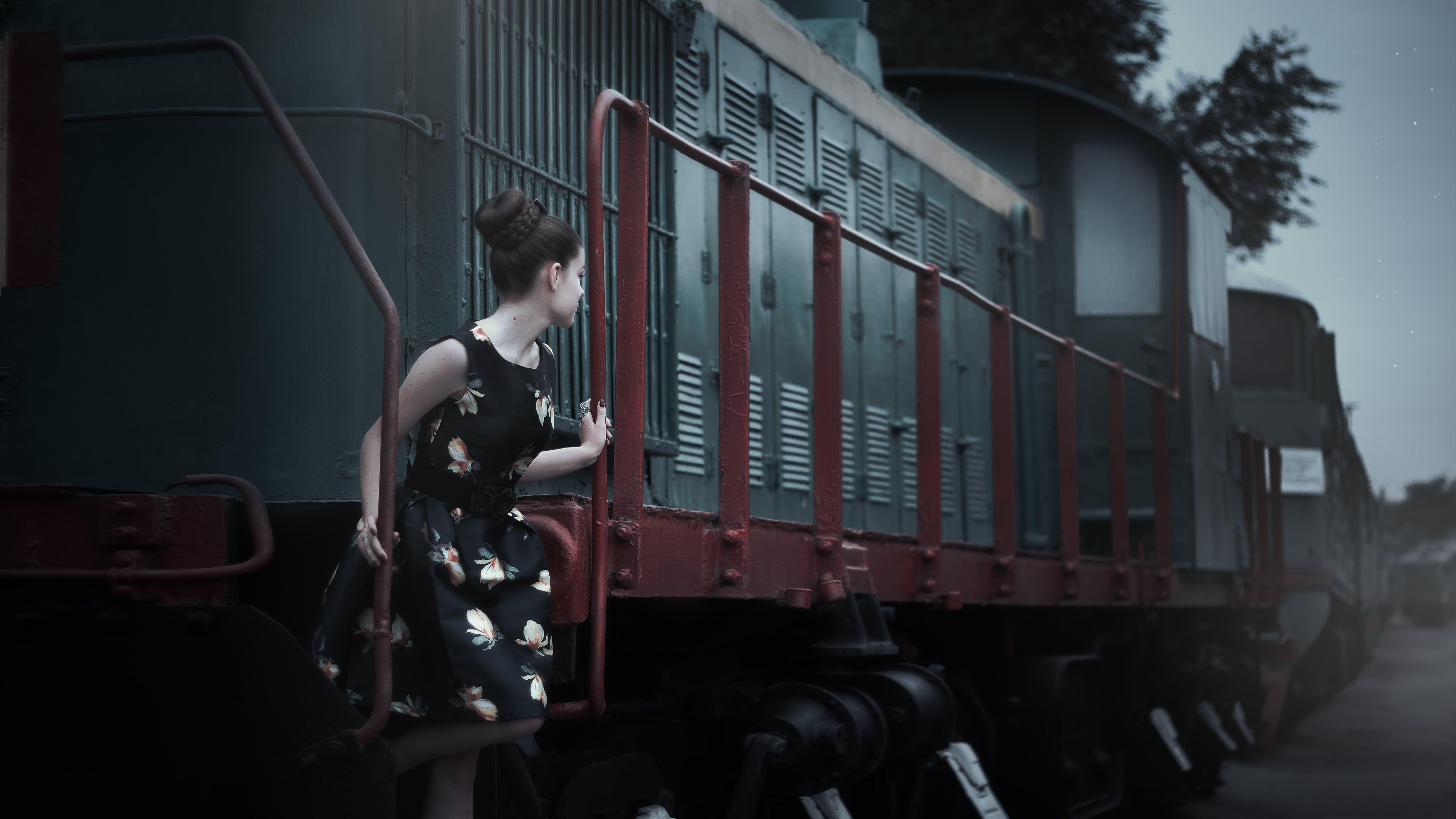 Woman in Train