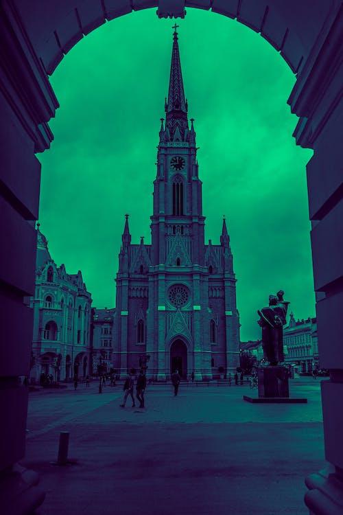Gratis arkivbilde med kirke, nedtrykt