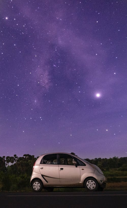 Free stock photo of astrophotography, car, long exposure, milky way