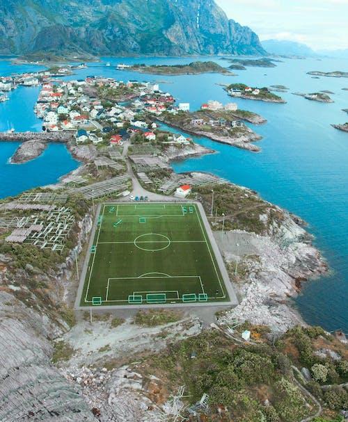 açık hava, ada, alan, deniz kıyısı içeren Ücretsiz stok fotoğraf