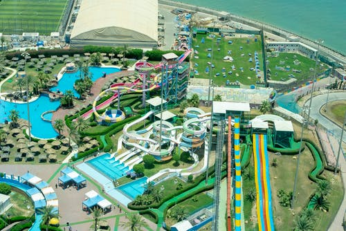 Aerial Photography of Water Park