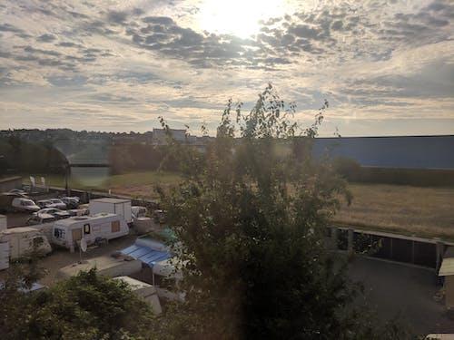 Kostnadsfri bild av soluppgång, tåg