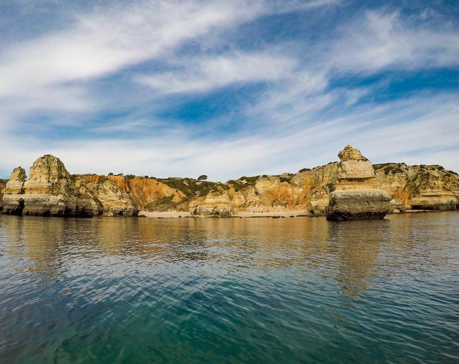 берег, вода, геологическое образование
