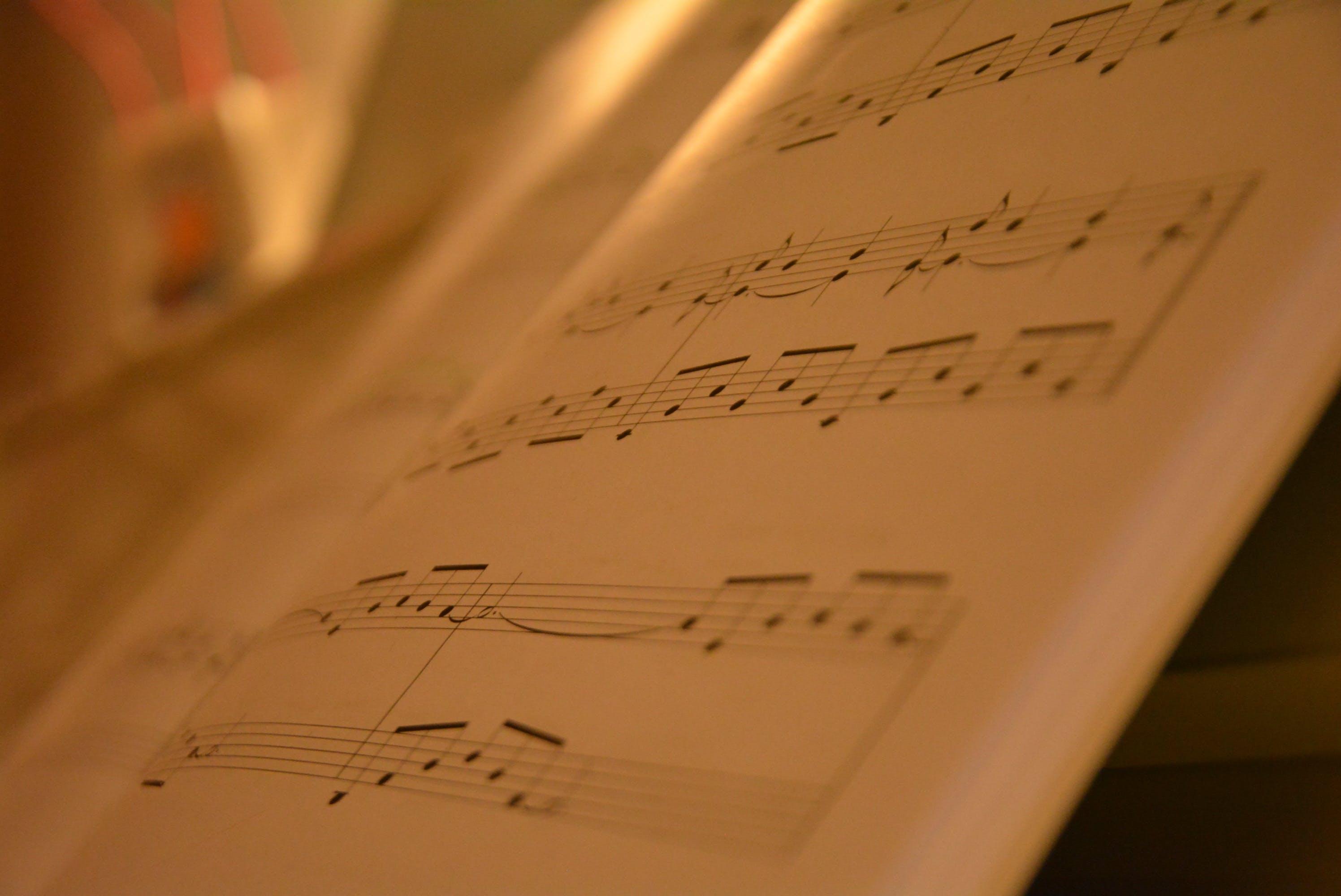 book, close-up, music