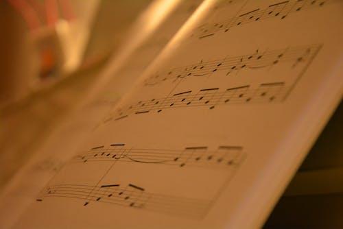 Kostenloses Stock Foto zu musik, musiknoten, nahansicht