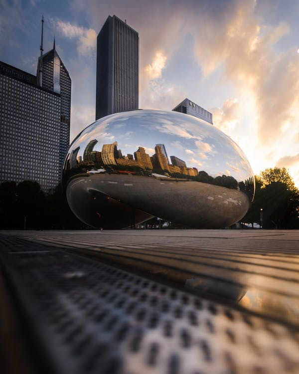 Low-Angle Photo of The Bean
