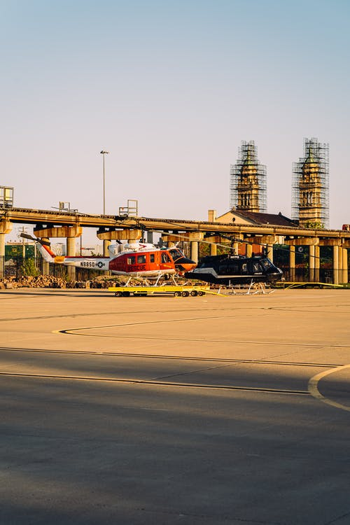 ヘリコプター, 交通手段, 交通機関, 光の無料の写真素材