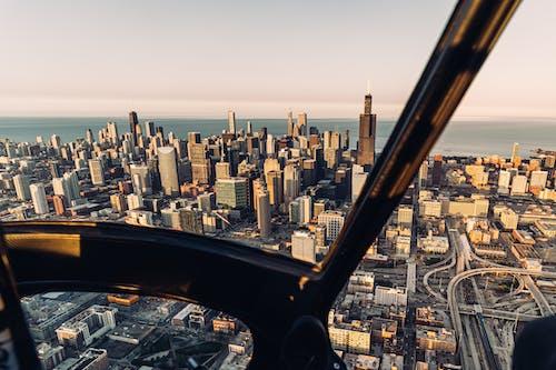 Imagine de stoc gratuită din arhitectură, aviaţie, avion, centrul orașului