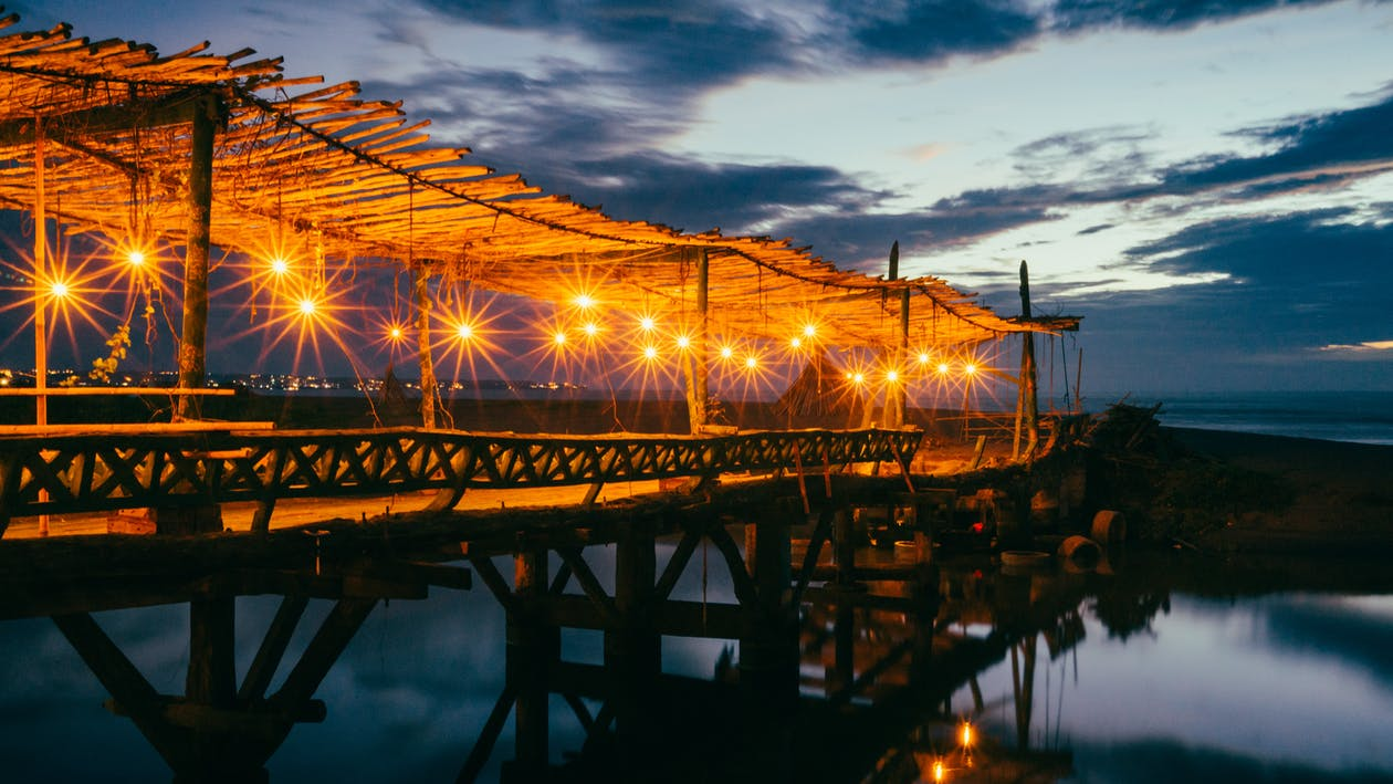 Architectural Photography of Brown Wooden Bridge