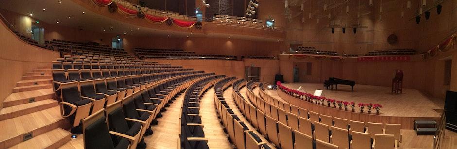 architecture, auditorium, building