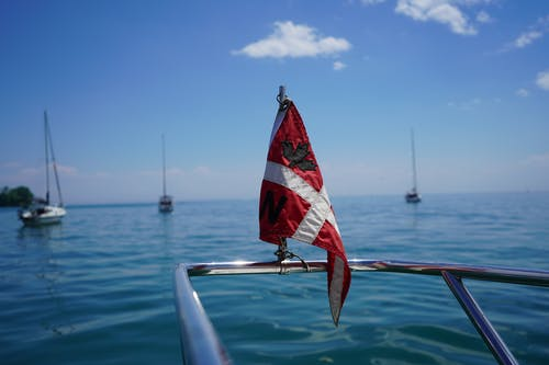 Free stock photo of blue water, boating, canada day