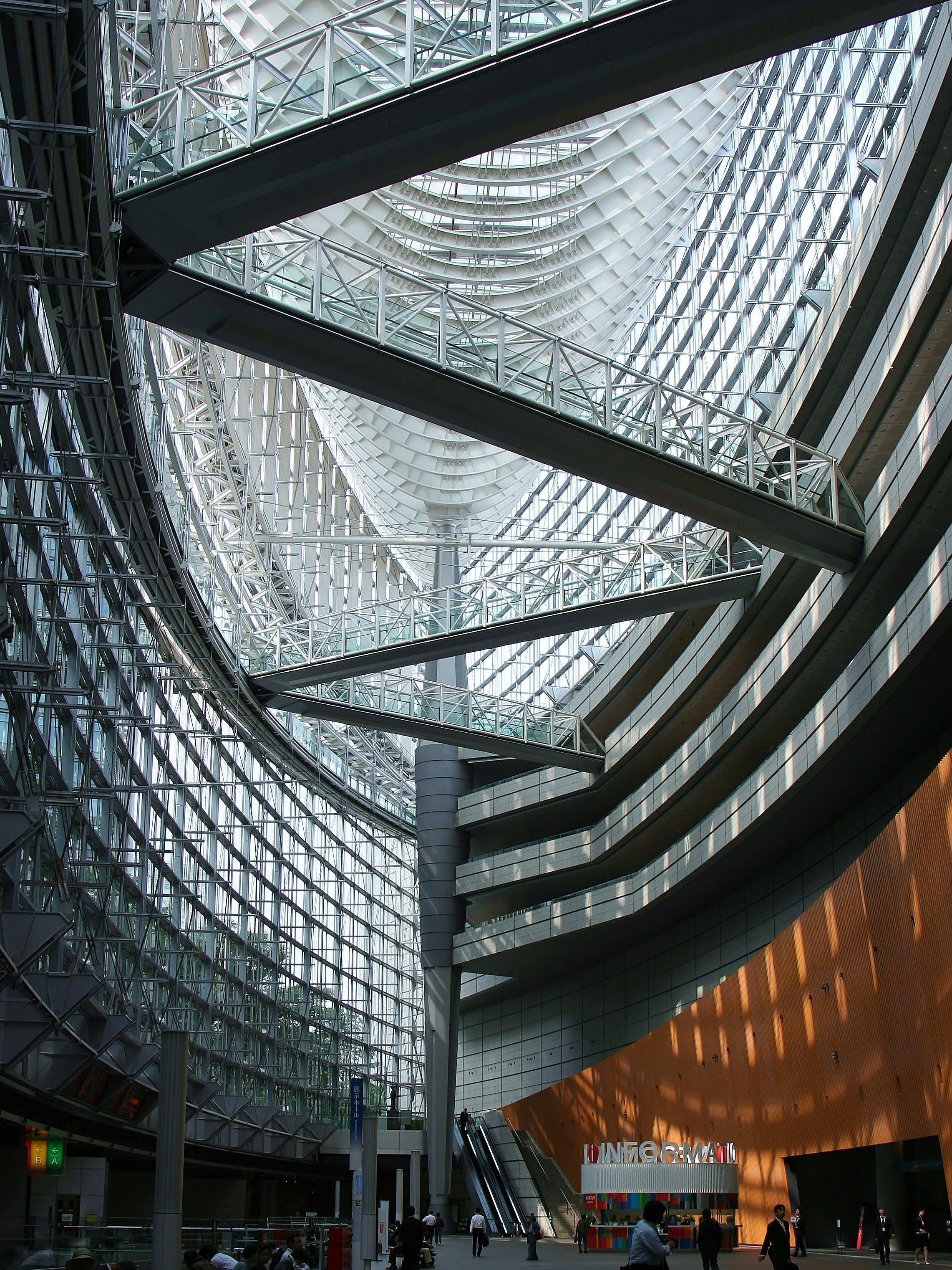 Free stock photo of light, people, building, bridge