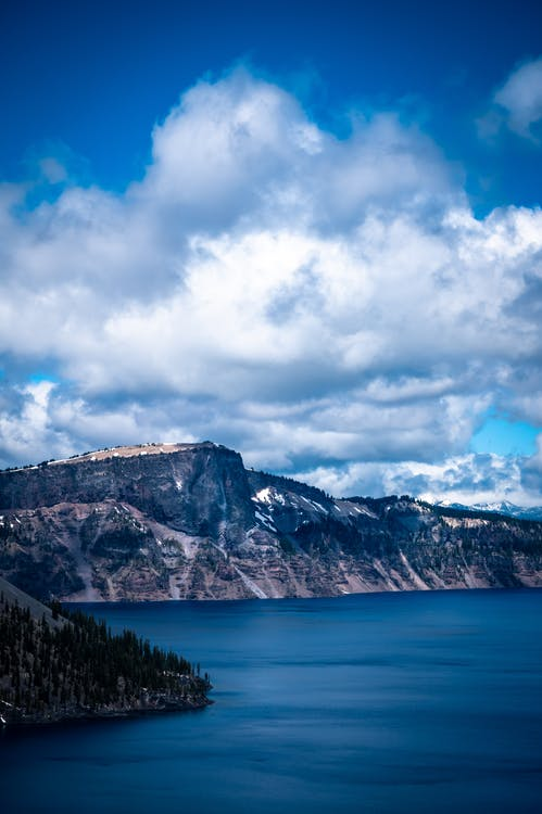 Scenic View Of Cliff Under Cloudy Sky