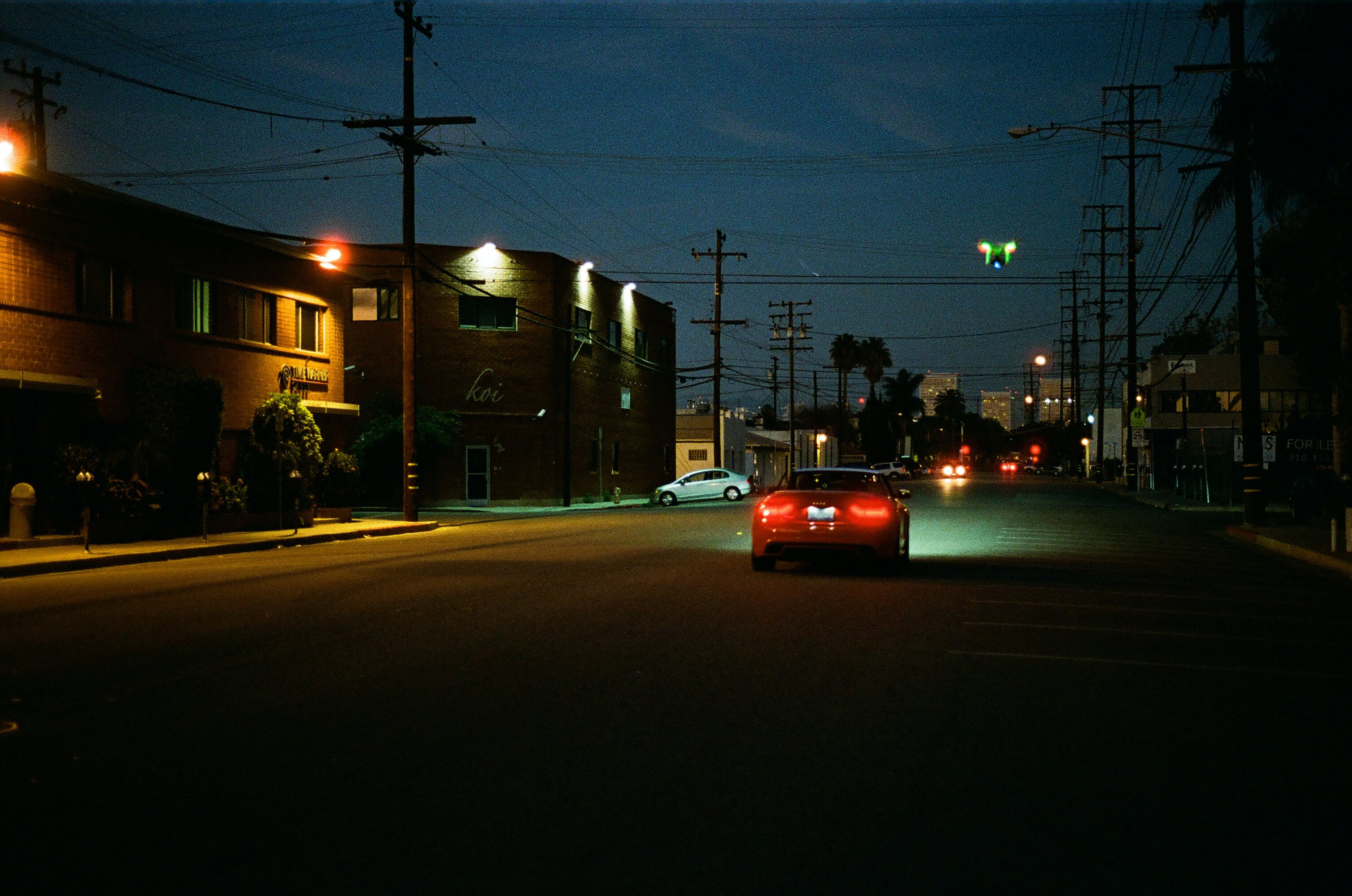Free stock photo of night, street, dark, car