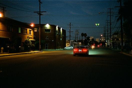 Free stock photo of night, street, dark, car