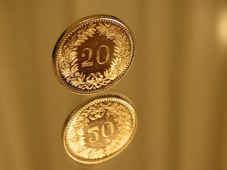 Free stock photo of blur, reflection, money, shining