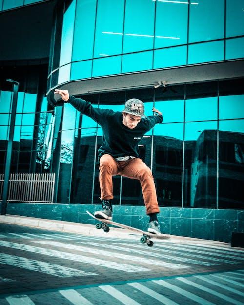 Δωρεάν στοκ φωτογραφιών με skateboard, skateboarder, skateboarding, αθλητικός εξοπλισμός