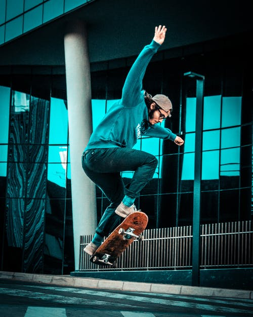 Photo Of Man Skating