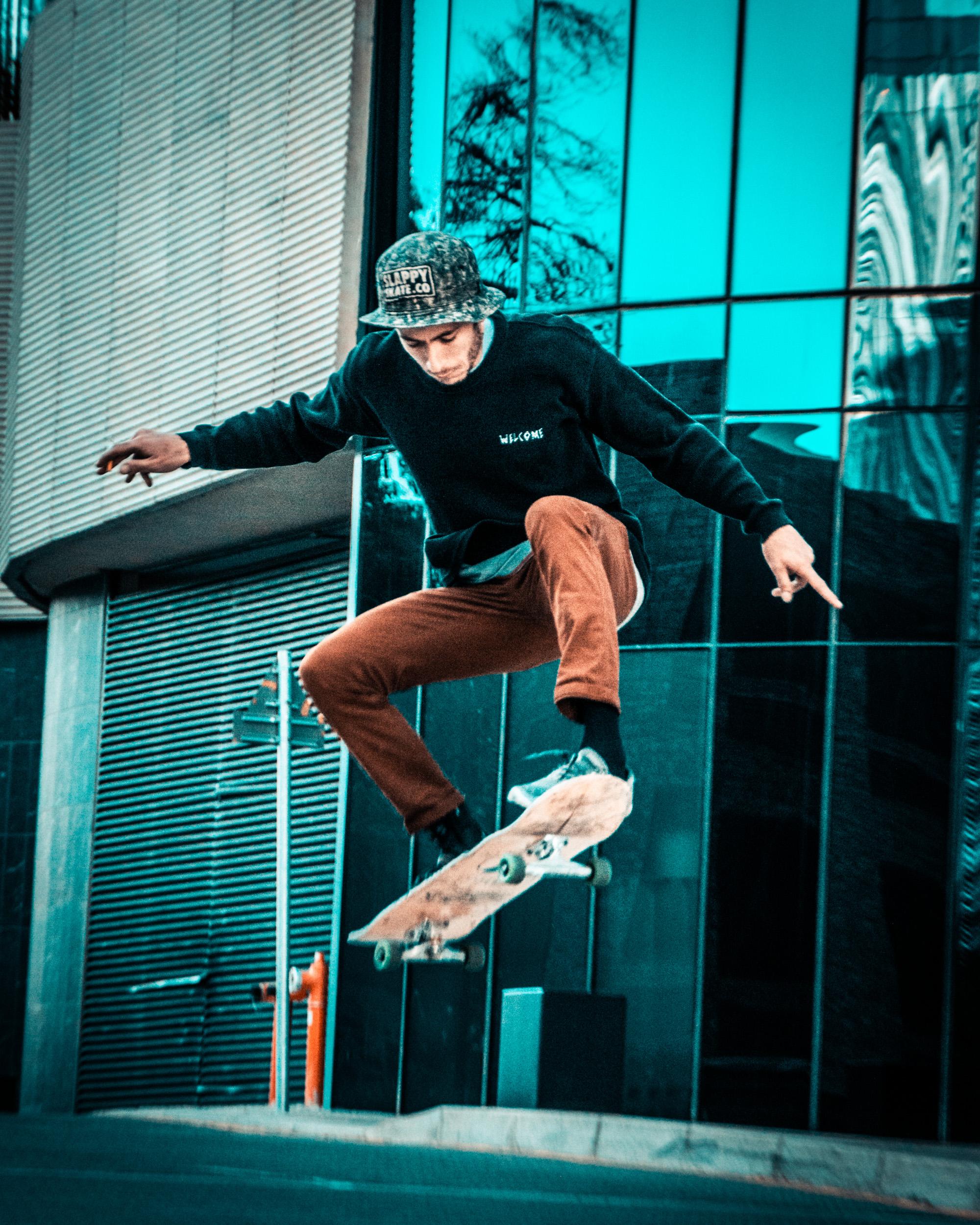 Photo Of Man Skating