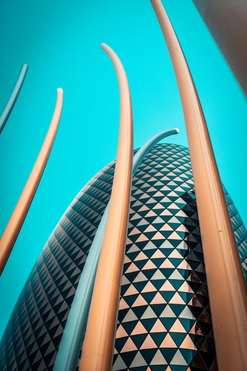 Gratis stockfoto met architectueel design, architectuur, blauwe lucht, buiten