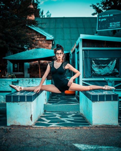 180分割, きれいな女性, バレエダンサー, バレリーナの無料の写真素材