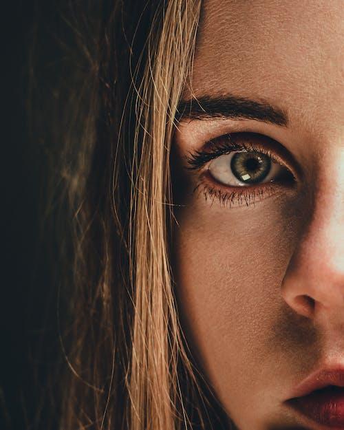 Gratis stockfoto met blondine, close-up, gezicht, gezichtsveld