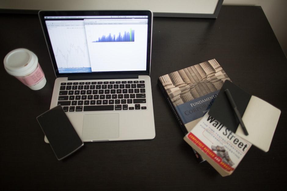 books, business, charts